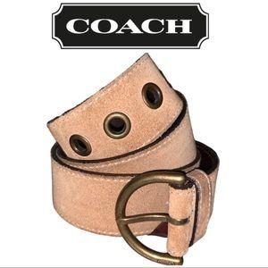 Coach tan suede belt EUC